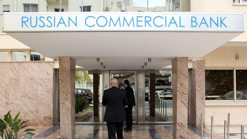 Une agence de la Russian Commercial Bank à Limassol.