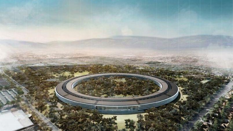 Une esquisse du deuxième campus d'Apple, dévoilée en septembre dernier.