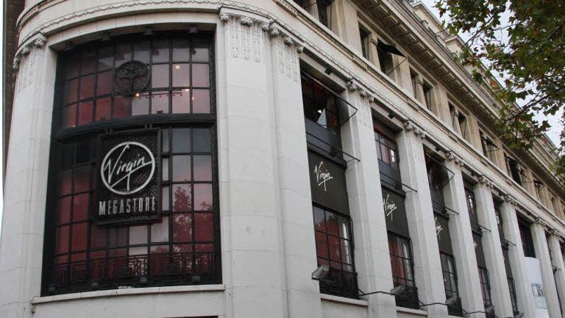 Le magasin Virgin des Champs-Élysées, à Paris. Crédit: Alain Aubert/Le Figaro