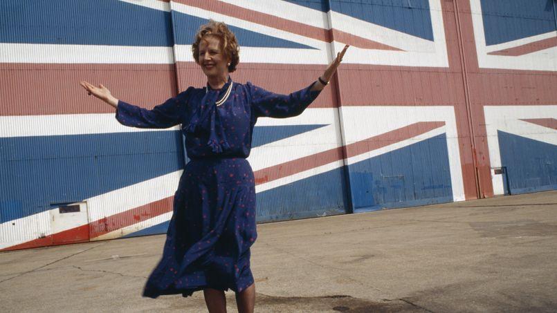 Margaret Thatcher lors du lancement du manifeste du Parti conservateur, en 1983.