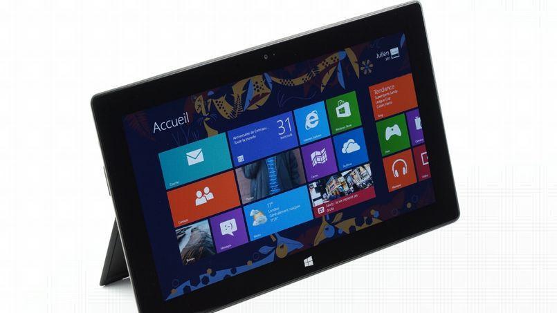 La tablette Surface, qui fonctionne sous Windows8, ne s'est vendue qu'à un million d'exemplaires.