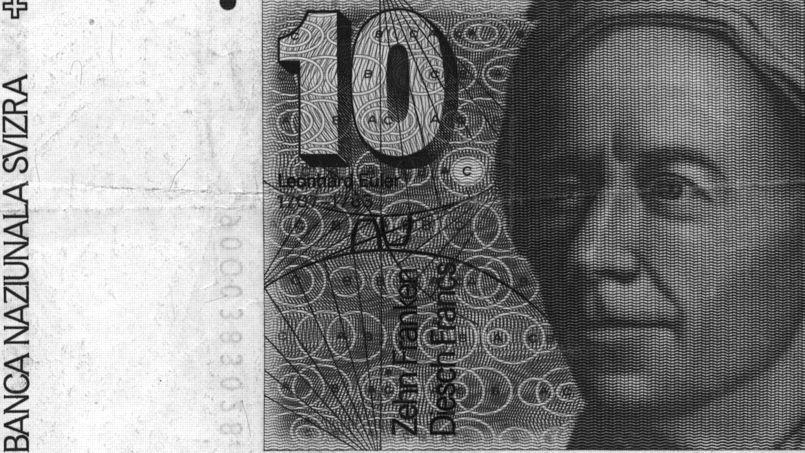 Leonhard Euler sur un ancien billet suisse de 10 francs. (DR)