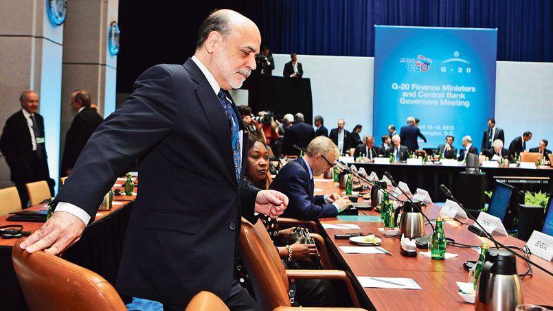 Ben Bernanke, président de la Réserve fédérale des États-Unis, vendredi au G20, à Washington.