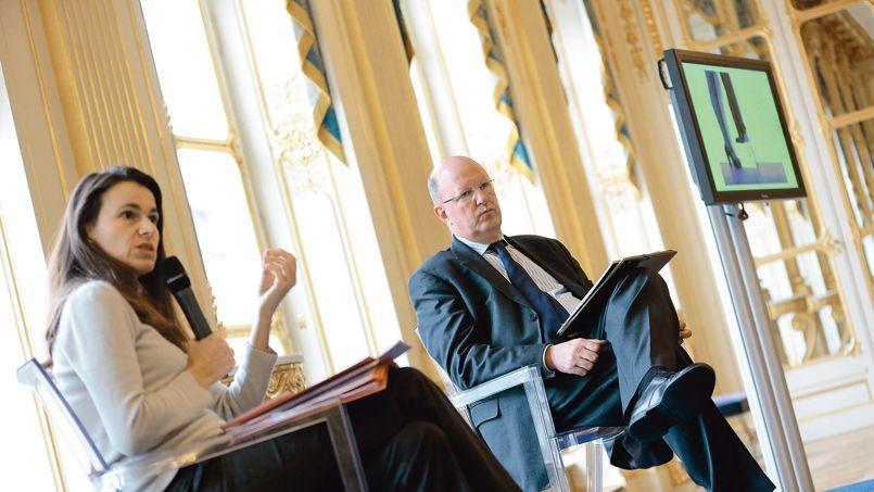 Aurélie Filippetti, ministre de la Culture et de la Communication, et Rémy Pflimlin, président de France Télévisions.