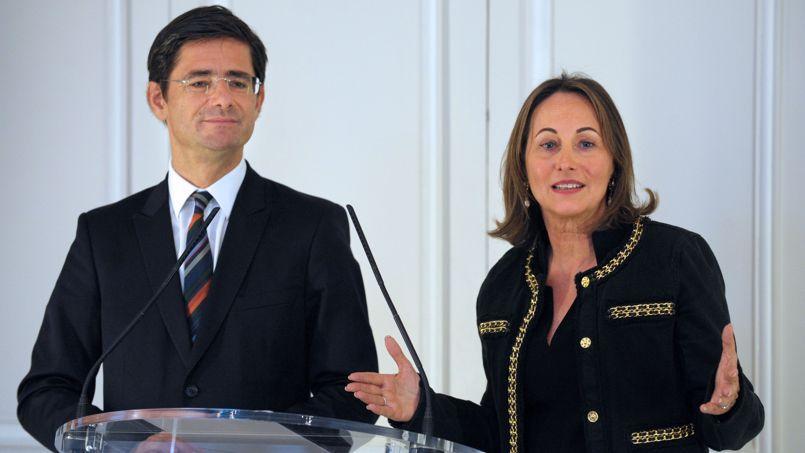 Nicolas Dufourcq et Ségolène Royal, le directeur général et la vice-présidente de la BPI.
