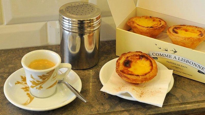 Un café et un Pastel de Nata chez Comme à Lisbonne (DR).