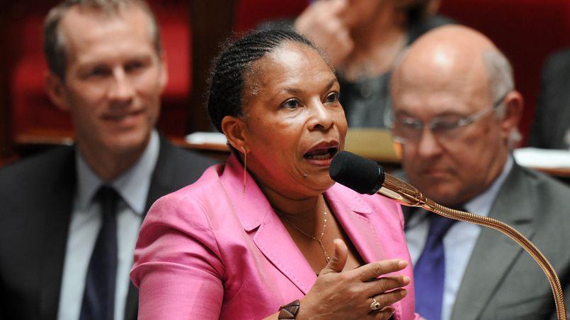 Christiane Taubira, garde des Sceaux, à l'Assemblée nationale, le 24 avril.