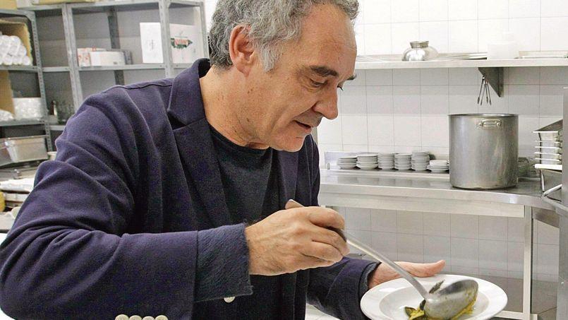 Ferran Adria, restaurant El Bulli, à Rosas (Catalogne).