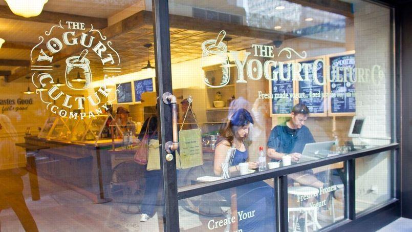 The Yogurt Culture Company, une boutique proposant les yaourts de Danone, au cœur de Manhattan.