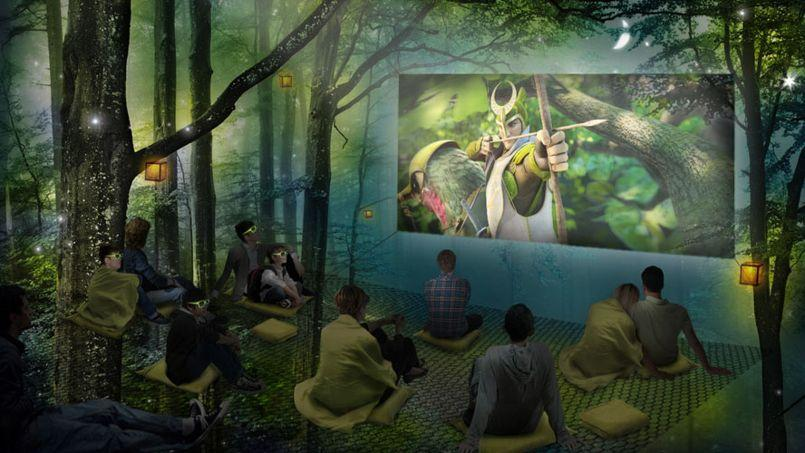 Le film Epic sera projeté à 3 mètres de hauteur dans une forêt. (Crédits: Fox)