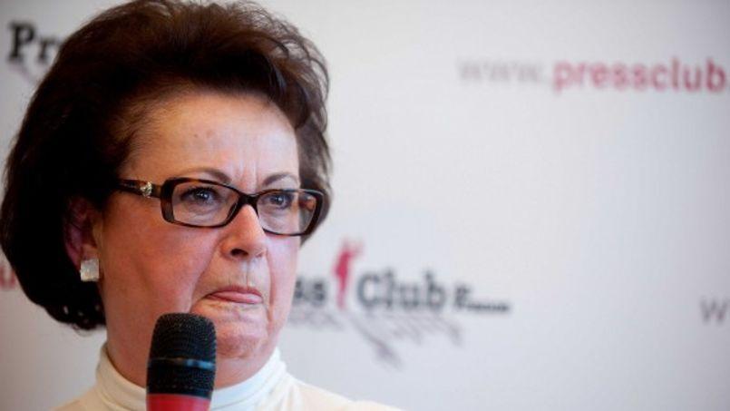 Christine Boutin lors d'une conférence de presse en décembre 2011 (Crédit photo: Duply Florent/SIPA)