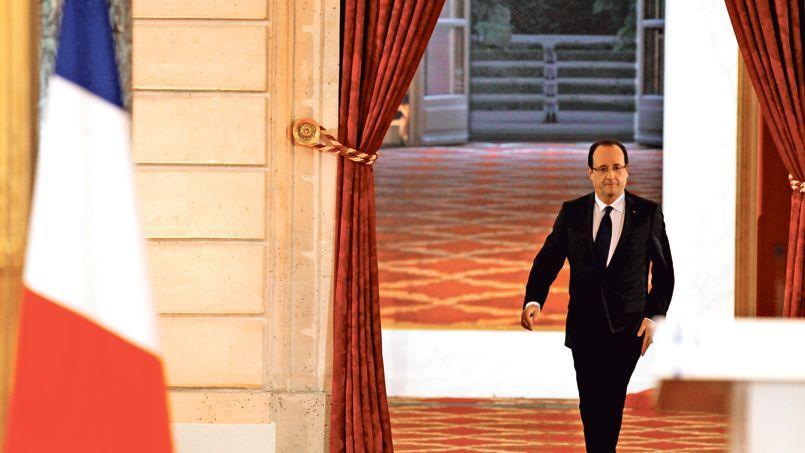 François Hollande, lors de sa première et dernière conférence de presse à l'Élysée, le 13 novembre 2012.