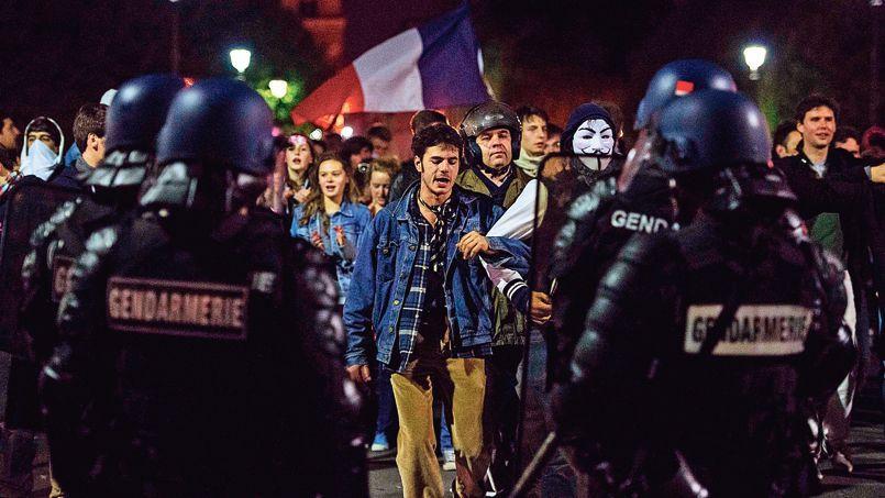 Le but avoué des manifestants: lasser les policiers et les pousser à s'occuper d'affaires jugées plus importantes (photo d'illustration,, du 23 avril).