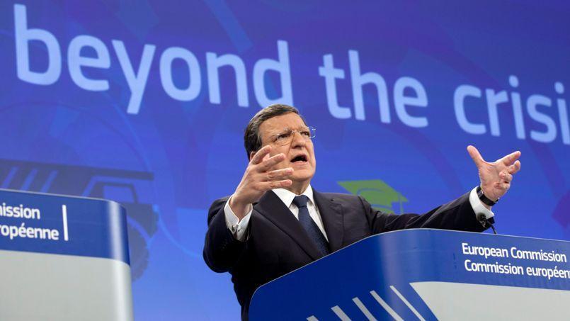 José Manuel Barroso. lors de sa conférence de presse.