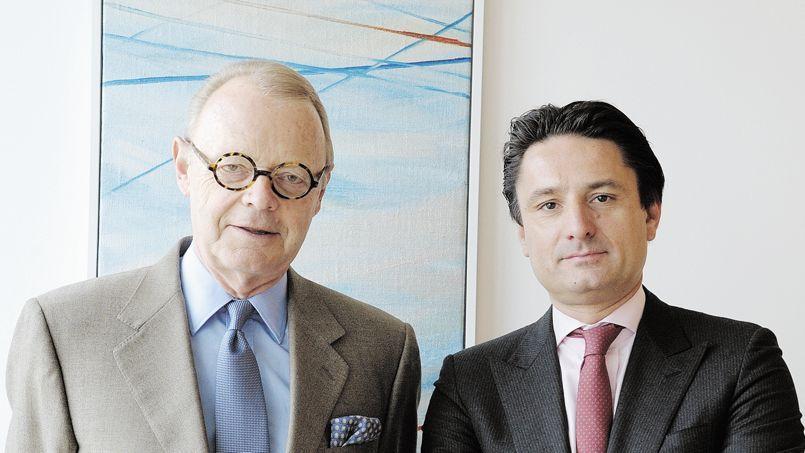 Patrick Thomas, PDG d'Hermès international (à gauche) va passer les rênes à Axel Dumas, actuellement cogérant du groupe.
