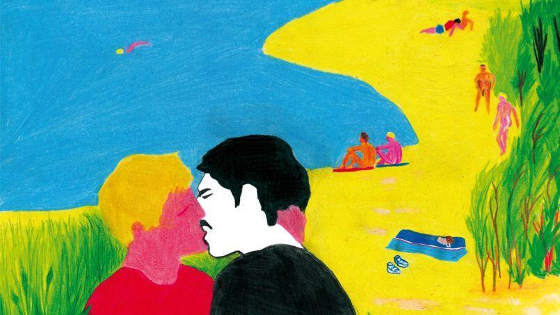 L'objet du scandale: l'affiche que Tom de Pékin a réalisée pour L'Inconnu du lac.