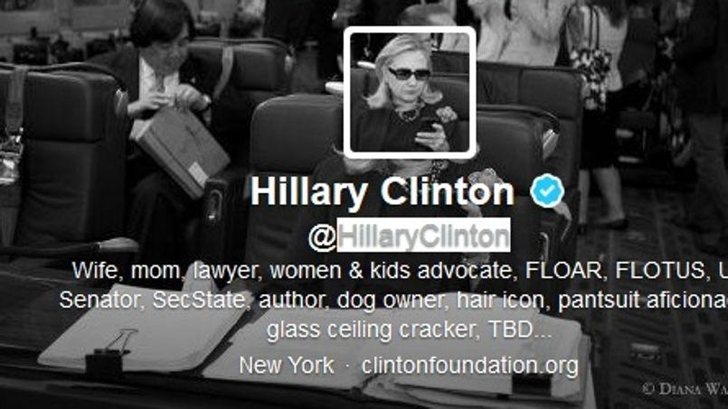 Le compte Twitter d'Hillary Clinton.