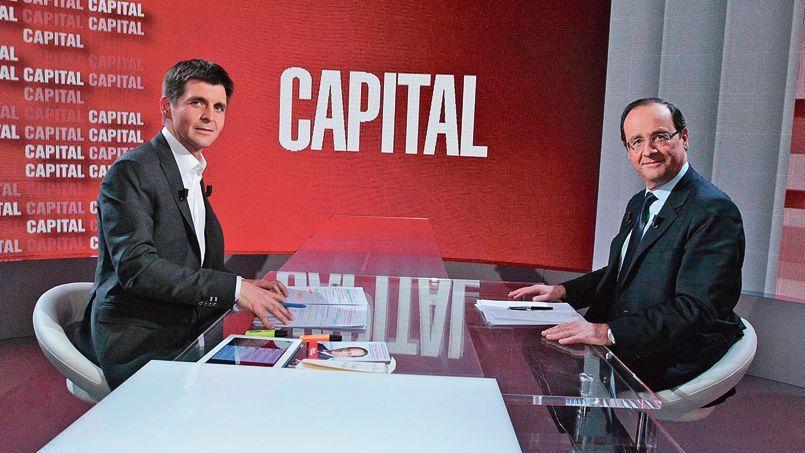 Lors de la campagne présidentielle de 2012, Thomas Sotto avait reçu le candidat Hollande sur le plateau de «Capital».
