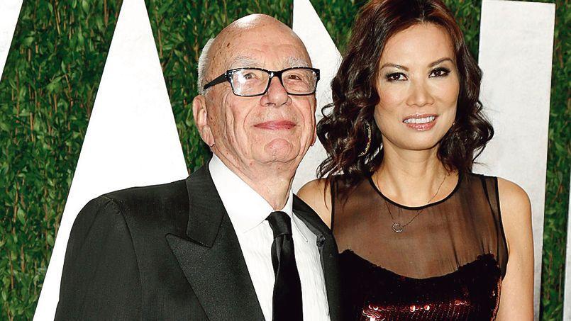 Rupert Murdoch et sa femme Wendy Deng en Californie, en février dernier.