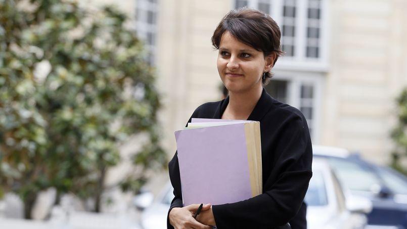 Najat Vallaud-Belkacem, ministre des Droits des femmes, a présenté mardi les pistes envisagées pour réduire les inégalités homme-femme face à la retraite.