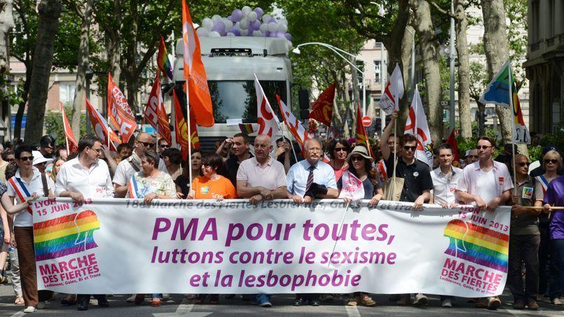 La Marche des fiertés 2013, le 15 juin à Lyon .