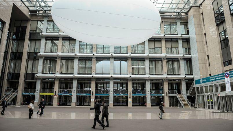 L'intérieur du Justus-Lipsius, siège du Conseil de l'Union européenne.