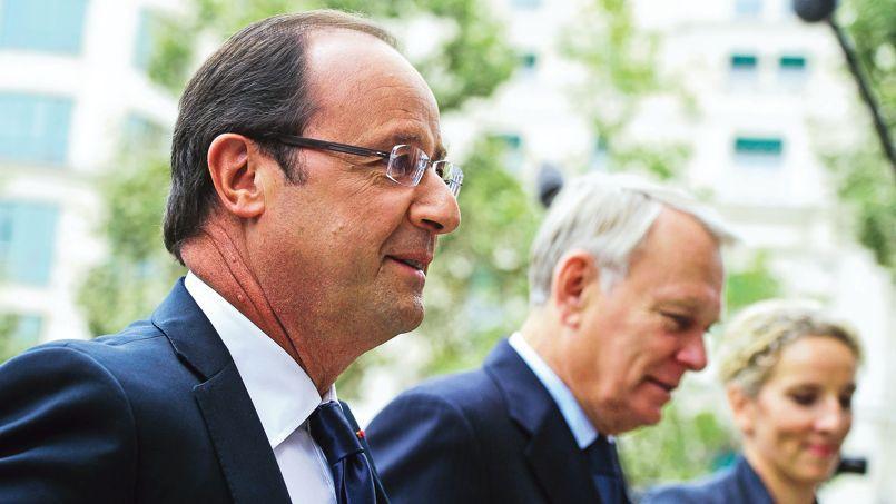 Francois Hollande, Jean-Marc Ayrault et Delphine Batho en septembre 2012, lors de la conférence environnementale.