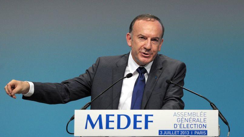 Pierre Gattazaprès son électionà la tête du Medef, mercredi à Paris.