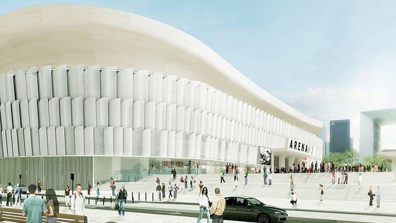 Cette enceinte de presque 40.000 places dotée d'un toit sortira de terre derrière la Grande Arche.