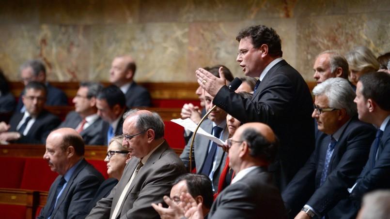 Le député UMP Philippe Gosselin, lors des débats sur le mariage pour tous à l'Assemblée.