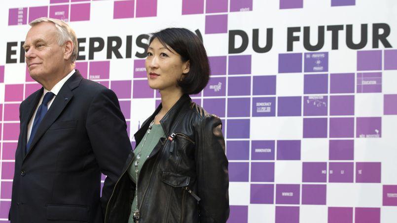 Jean-Marc Ayrault et Fleur Pellerin à l'inauguration du festival Futur En Seine, en juin.