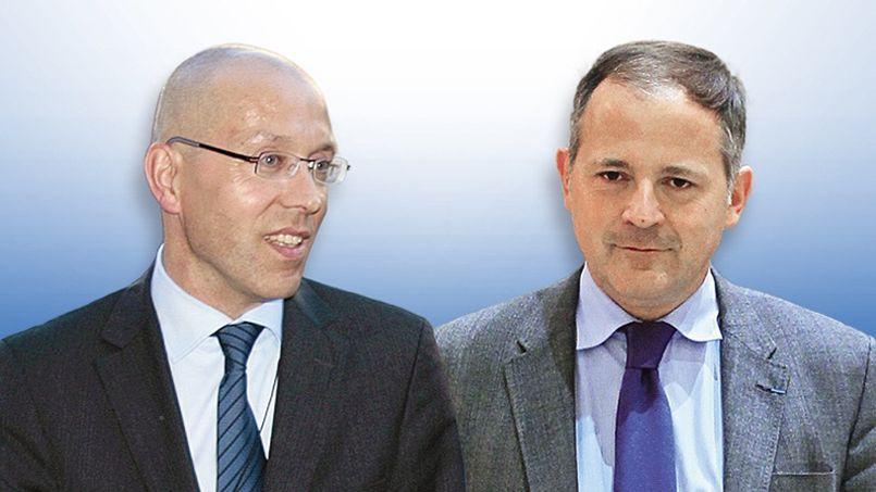 l'Allemand Jörg Asmussen et le Français Benoît Cœuré, membres du directoire de la BCE.