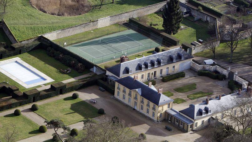 Vue aérienne de la résidence.