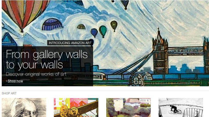 Amazon Art propose plus de 40.000 œuvres à la vente.