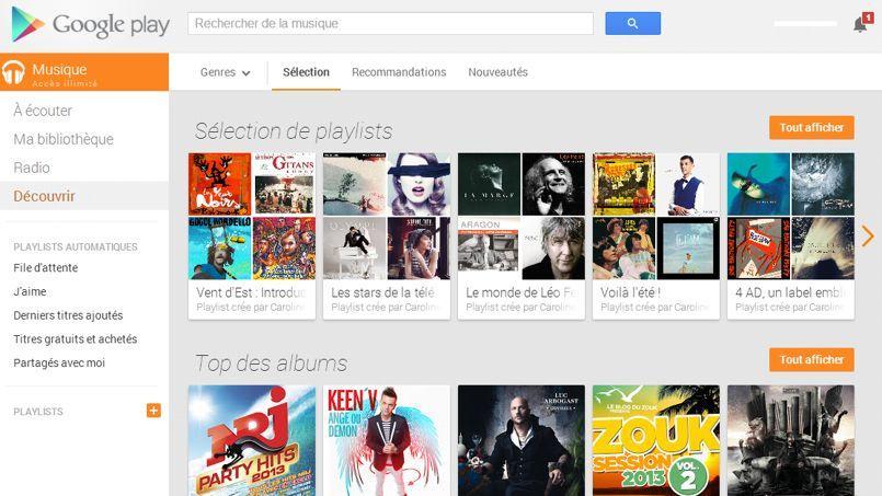 Google Play Music Accès Illimité a été lancé le 15 mai aux États-Unis.