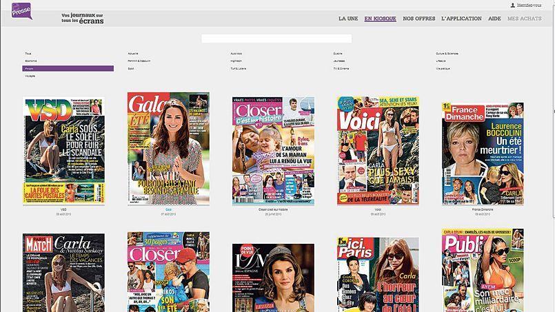 Le site ePresse, comme d'autres kiosques numériques, multiplie les offres de découverte et les promotions en août.