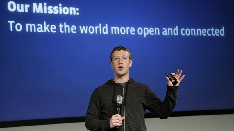Mark Zuckerberg, PDG de Facebook, estime que le taux d'adoption d'Internet -9% par an- n'est pas «pas assez rapide».