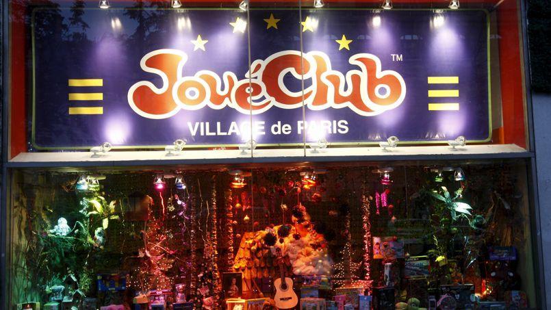L'une des vitrines du village JouéClub, dans le 9 ème arrondissement à Paris.