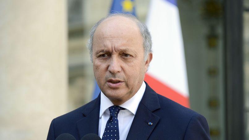 Laurent Fabius à la sortie du Conseil de défense consacré à la Syrie mercredi.