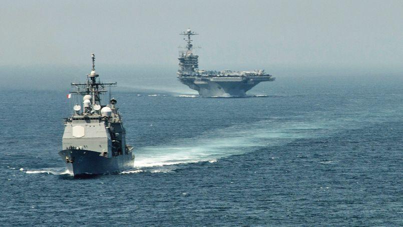 Le lance-missiles USS Gettysburget le porte-avions USS Harry S. Trumanont passé le détroit de Gibraltar le 3août et stationnent désormais en Méditerranée orientale.