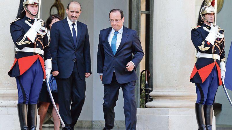 François Hollande a reçu jeudi à l'Élysée Ahmed Jarba, le président de la Coalition nationale syrienne (CNS), principale représentante de l'opposition civile.