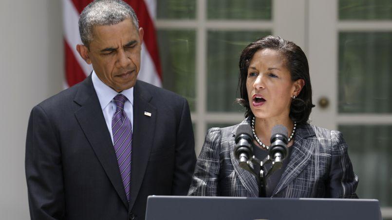 Barack Obama en compagnie de Susan Rice, la conseillère à la Sécurité nationale, en juin, à la Maison-Blanche à Washington.
