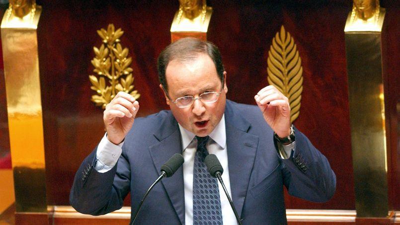 François Hollande en juillet 2003 à l'Assemblée nationale;