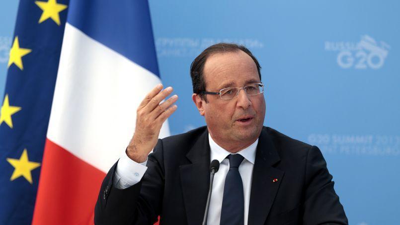François Hollande, hier en clôture du G20.