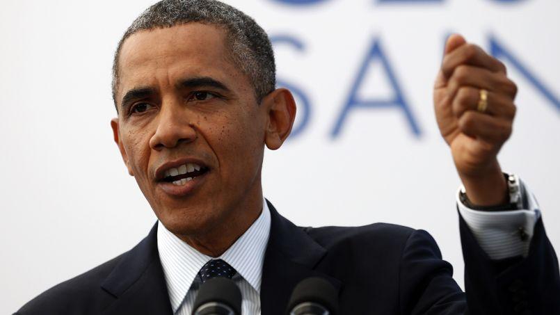 Barack Obama lors du sommet du G20 à Saint Pétersbourg, le 6 septembre.