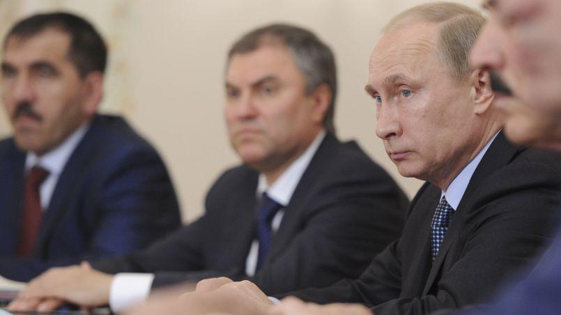 Vladimir Poutine près de Moscou, mardi.