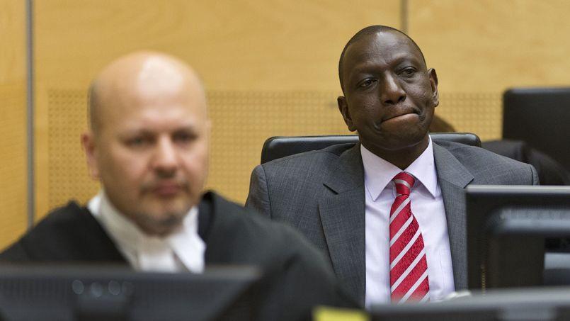 William Ruto, le 9 septembre devant la la Cour pénale internationale de La Haye. Il plaide non coupable.