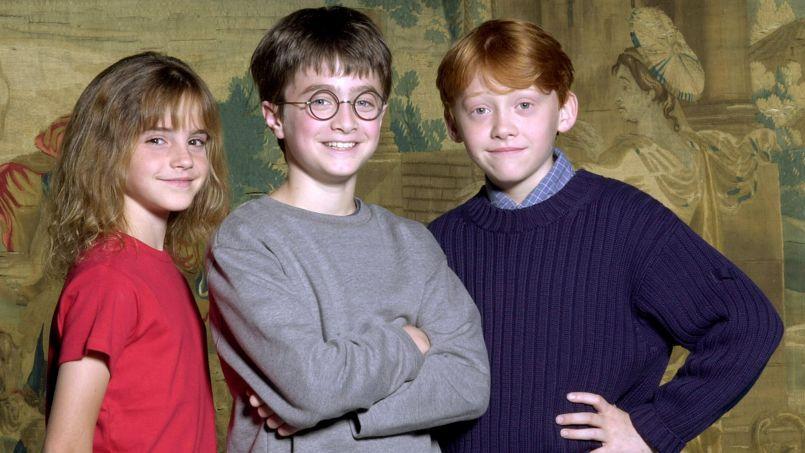 Les stars en devenir Emma Watson, Daniel Radcliffe et Rupert Grint, à leurs débuts dans la saga Harry Potter, le 21 août 2000.
