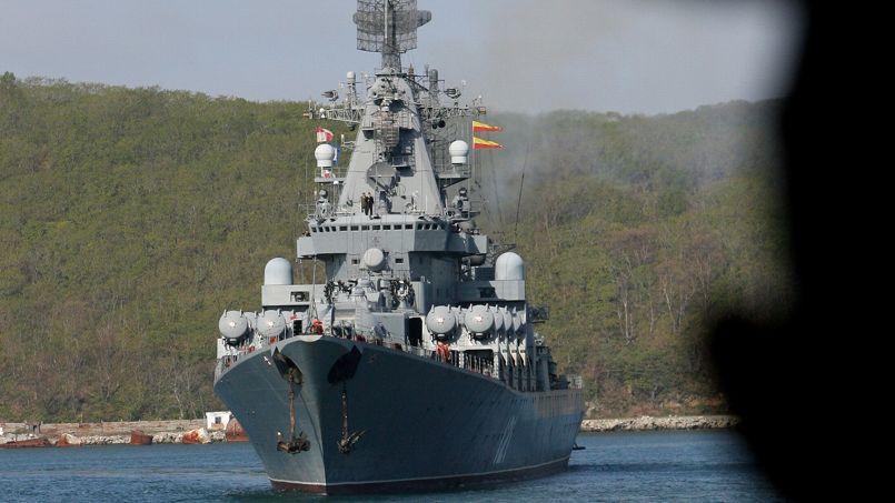 Le croiseur lance-missile Moskya a quitté les eaux de la mer Noire pour la Méditerranée orientale.