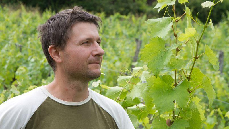 Patrice Hugues-Béguet dans son domaine. Ancien consultant informatique, il est désormais viticulteur dans le Jura.